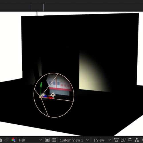 escenario 3d en after effects con luces